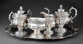 Coin Silver Tea Service, John Crawford