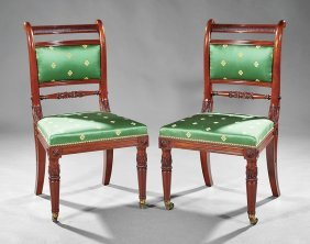 Pair Of Late Regency Mahogany Side Chairs