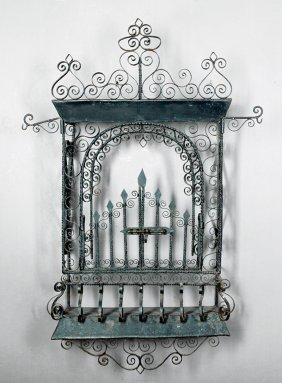 Spanish Colonial Wrought Iron Tabernacle
