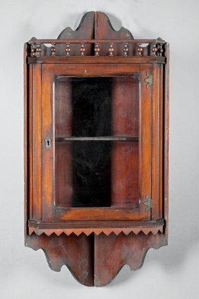 American Cherrywood Hanging Corner Cupboard