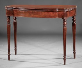 Carved Mahogany Games Table, Poss. Seymour