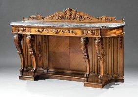 Beaux Arts Carved Walnut Buffet
