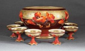 Haviland Limoges Porcelain Punch Bowl Set