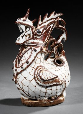 Chinese Glazed Stoneware Ewer