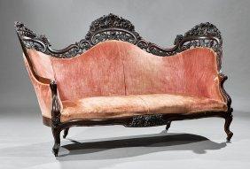 Rosewood Sofa, Attr. Belter