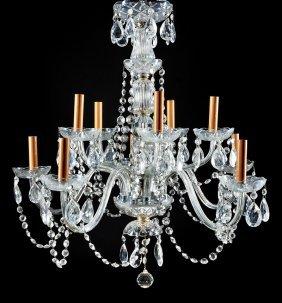 Continental Cut Crystal Ten-light Chandelier