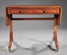 George Iii Inlaid Mahogany Sofa Table