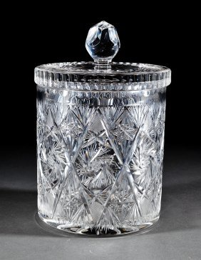 Hawkes Brilliant Cut Glass Covered Jar