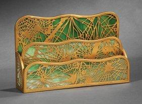 Tiffany Studios Art Nouveau Letter Holder