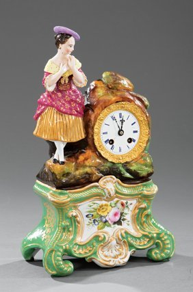 Paris Porcelain Figural Mantel Clock