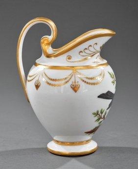 "Paris Porcelain Pitcher, Marked ""nast"""
