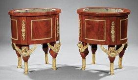 Gilt Bronze-mounted Mahogany Jardinieres
