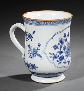 Chinese Export Blue And White Porcelain Tankard