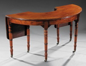 Late Regency Mahogany Hunt Table