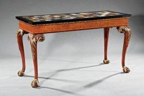 George Iii-style Parcel-gilt Burl Walnut Table