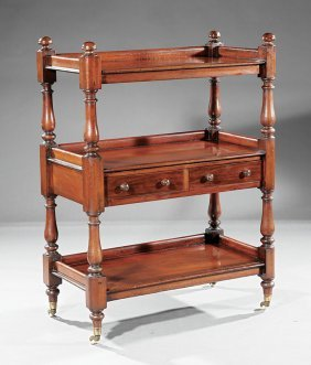 Late Regency Mahogany Serving Trolley
