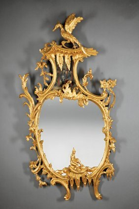 George Iii-style Carved And Giltwood Mirrors