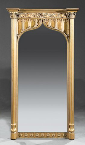 American Gothic Carved Giltwood Pier Mirror