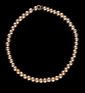 Two 14 Kt. Gold Filled Bead Necklaces