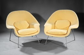 "Eero Saarinen ""womb"" Lounge Chairs, ""knoll"""