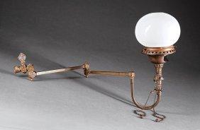 American Victorian Brass Wall Light