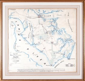 American Civil War Era Manuscript Map