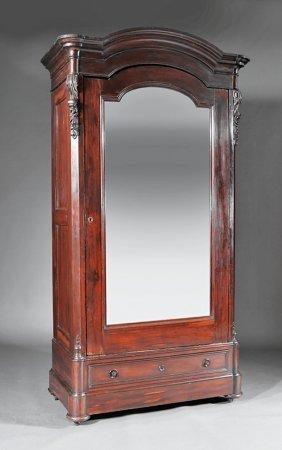 American Rococo Mahogany Or Rosewood Armoire