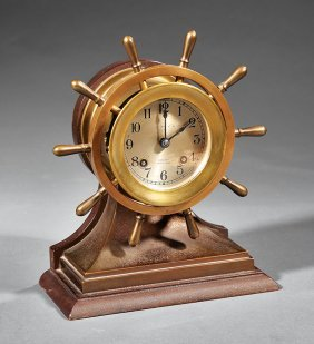 Chelsea Mahogany And Brass Ship's Bell Clock