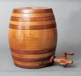 Redlich's Stoneware Barrel-form Water Cooler