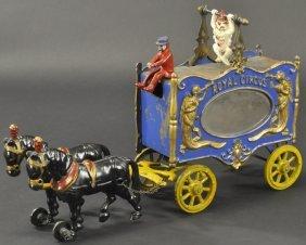 Hubley Royal Circus Clown Trapeze Wagon