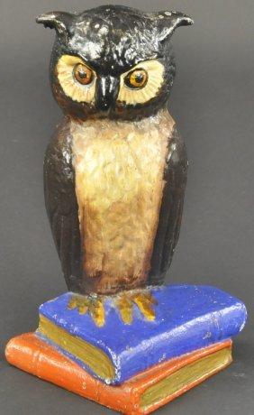 Owl On Books Doorstop