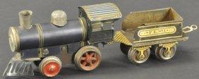 Ives 'o' Gauge Tin Engine With Tender