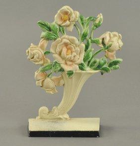 Roses In Slanted Vase Doorstop