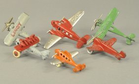 Grouping Of Six Small Airplanes
