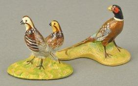 Hubley Pheasant & Quails Miniatures