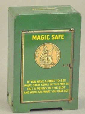 Magic Safe Tin Mechanical Bank
