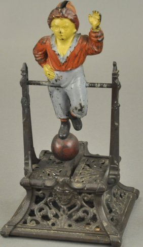 Boy On Trapeze Mechanical Bank