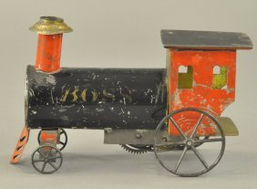 Ives Tin Clockwork Locomotive