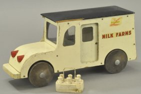 Buddy 'l' Wooden Milk Farms Truck