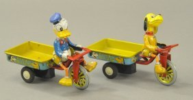 Lot Of Two Mickey's Delivery Wagons