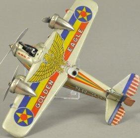 Golden Eagle Sparking Fighter Plane