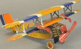 Distler Bi-wing Clockwork Airplane
