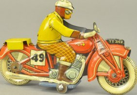 Mettoy Tin Litho Civilian Rider Motorcycle