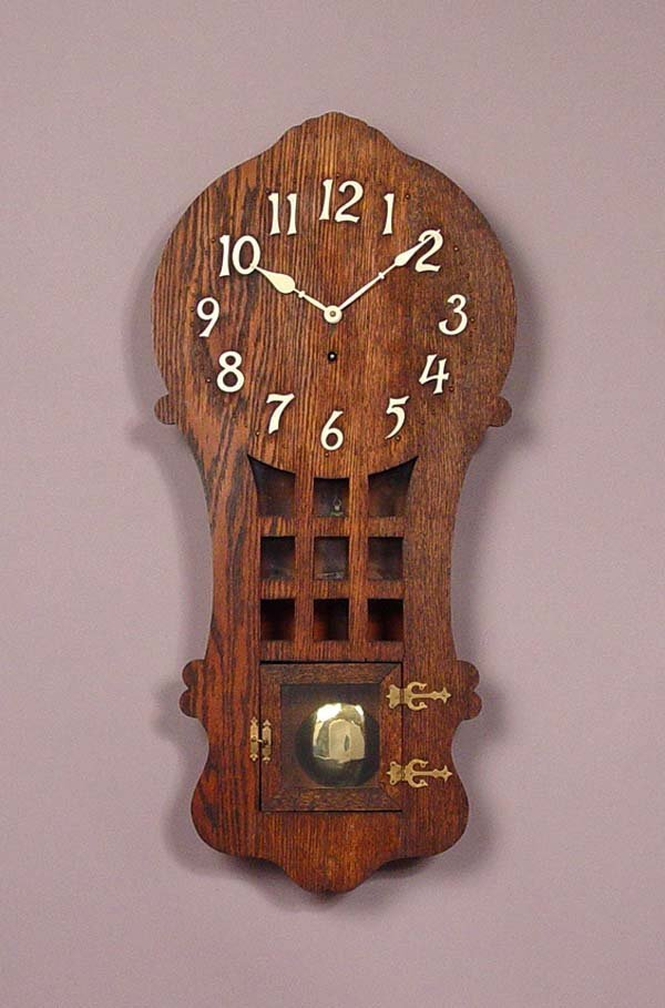 979 sessions ramona arts crafts wall clock lot 979 for Arts and crafts style wall clock
