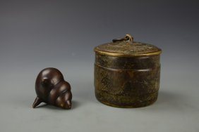 Chinese Bronze Censor And Bronze Coup
