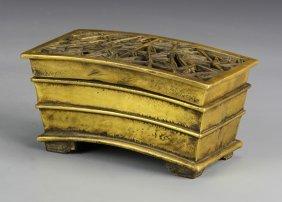 Chinese Bronze Rectangular Censer