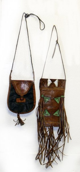 Two Native American Leather Bags
