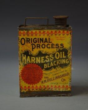 Antique Harness Oil Blackener Tin