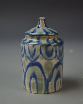 Small Covered Pottery Jar