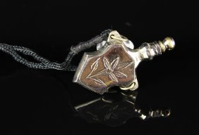 Nickel Plated Perfume Necklace